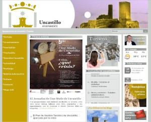 Vista la Página Web del Ayuntamiento de Uncastillo